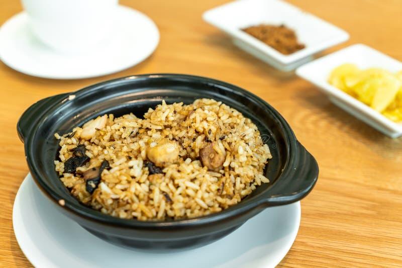 τηγανισμένο ρύζι με taro στοκ εικόνα με δικαίωμα ελεύθερης χρήσης