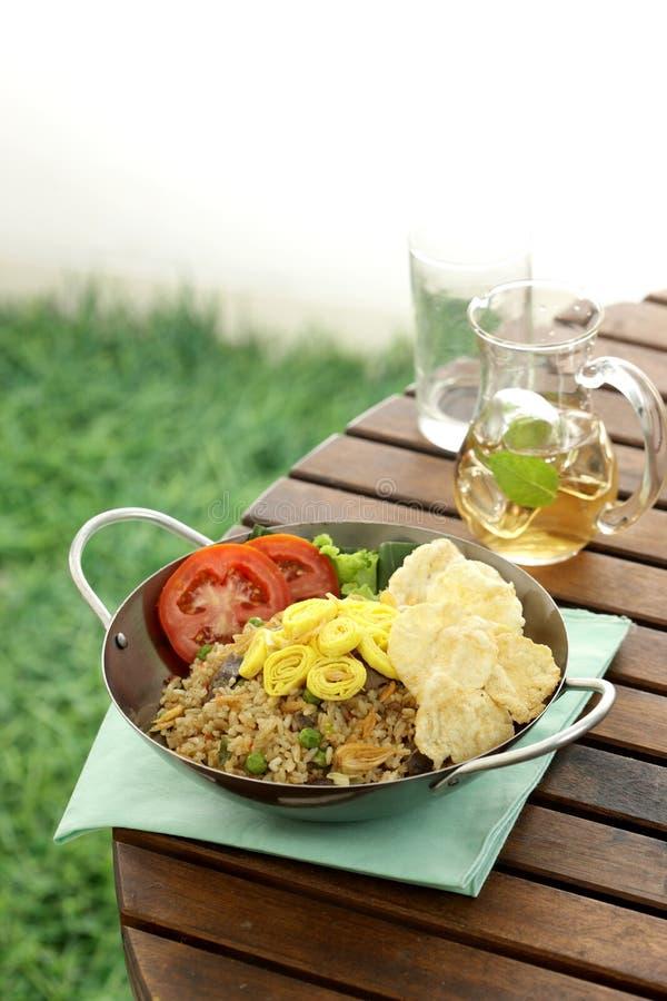 τηγανισμένο ρύζι της Ινδον&e στοκ φωτογραφίες