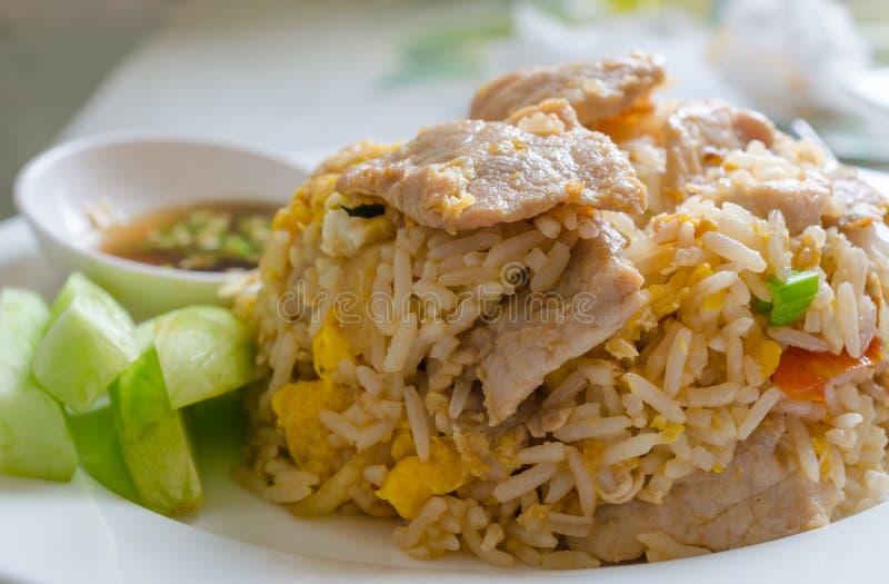 τηγανισμένο ρύζι χοιρινού &kapp στοκ εικόνες