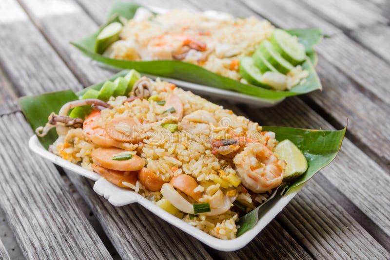 τηγανισμένο ρύζι shimp στοκ εικόνες