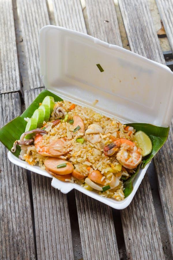 τηγανισμένο ρύζι shimp στοκ φωτογραφίες