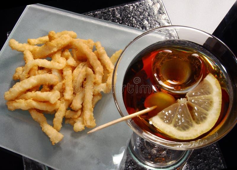 Τηγανισμένο calamari στοκ εικόνα με δικαίωμα ελεύθερης χρήσης