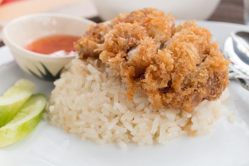 Τηγανισμένο Hainanese ρύζι κοτόπουλου στοκ εικόνες
