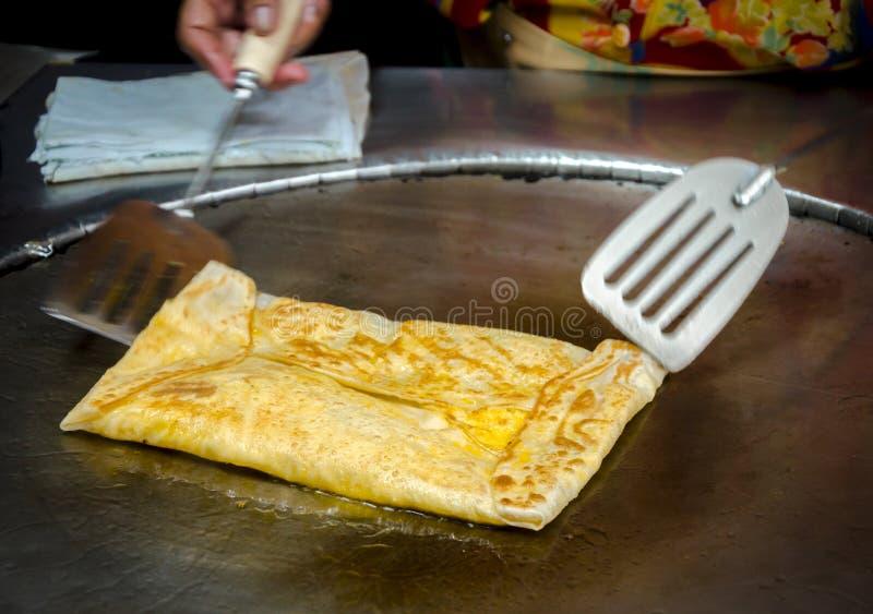 Τηγανισμένο Roti ψωμί στοκ εικόνα με δικαίωμα ελεύθερης χρήσης