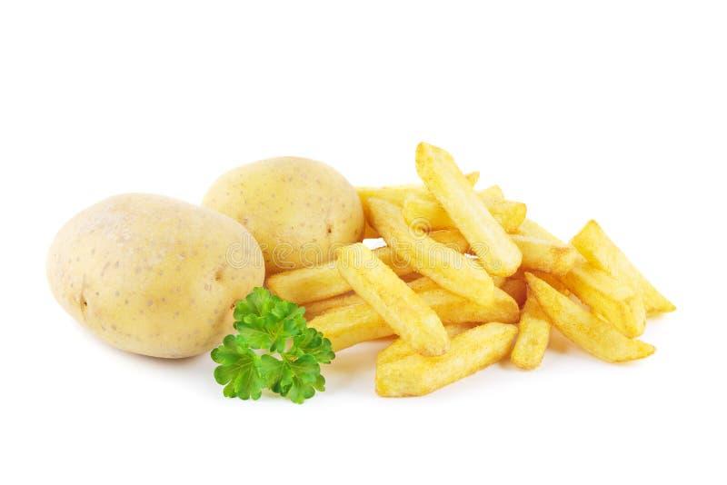 Τηγανιτές πατάτες και πατάτες στοκ φωτογραφία με δικαίωμα ελεύθερης χρήσης