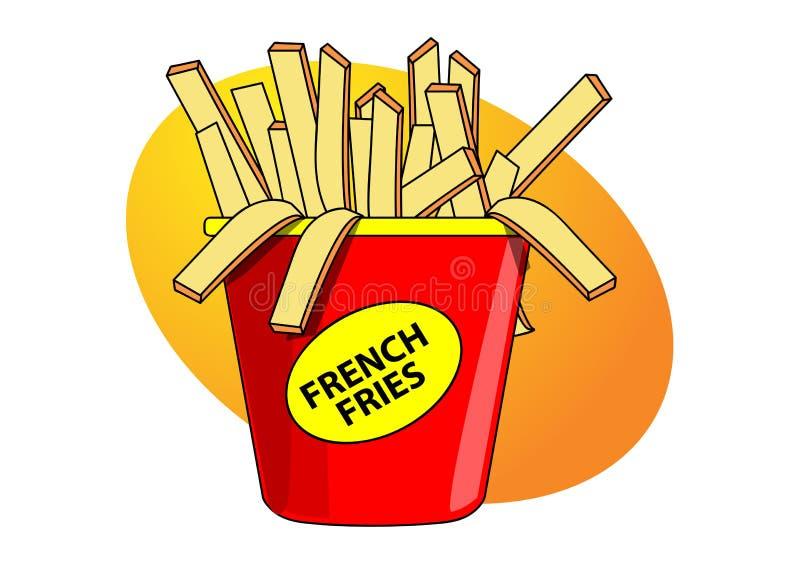τηγανιτές πατάτες ελεύθερη απεικόνιση δικαιώματος