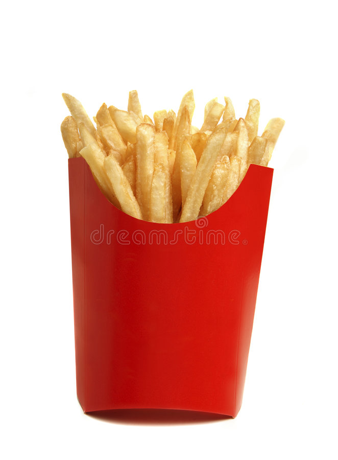 τηγανιτές πατάτες στοκ εικόνα