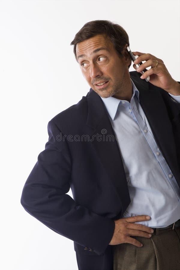 τηλέφωνο ατόμων κυττάρων στοκ εικόνα