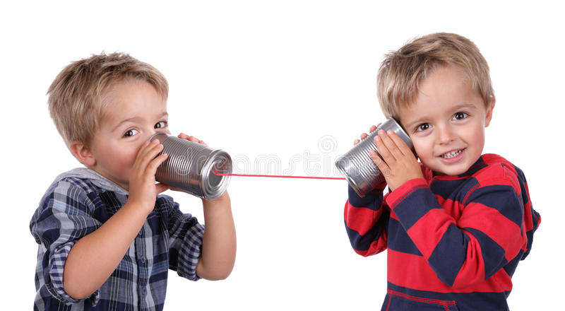 Τηλέφωνο δοχείων κασσίτερου στοκ φωτογραφία με δικαίωμα ελεύθερης χρήσης