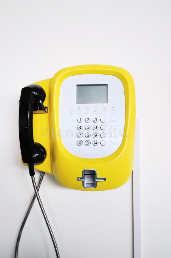 τηλέφωνο κίτρινο στοκ εικόνες