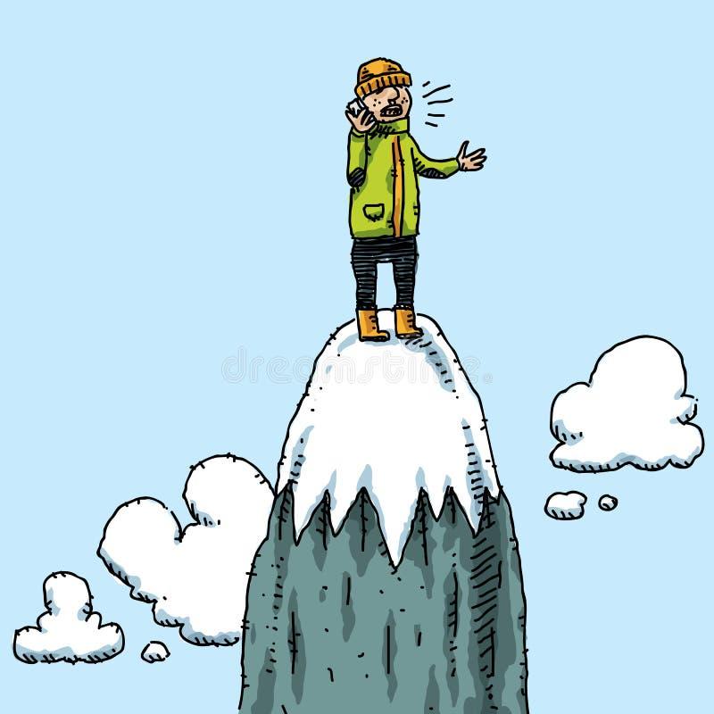 τηλέφωνο κλήσης mountaintop ελεύθερη απεικόνιση δικαιώματος