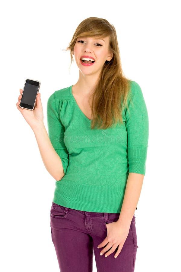 Download τηλέφωνο κοριτσιών κυττάρ&o Στοκ Εικόνες - εικόνα από ευτυχία, στούντιο: 13178280