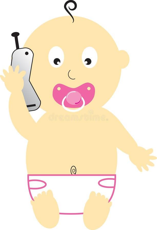 τηλέφωνο κοριτσιών κυττάρ&o διανυσματική απεικόνιση
