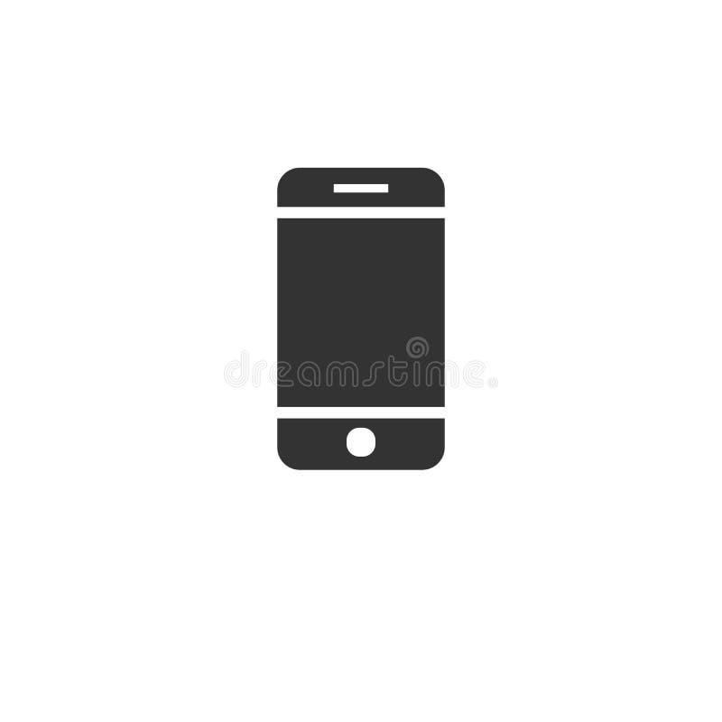 Τηλέφωνο κυττάρων ή ο Μαύρος εικονιδίων επαφών επίπεδο ύφος σχεδίου σημαδιών r r o διανυσματικός εικονογράφος r ελεύθερη απεικόνιση δικαιώματος