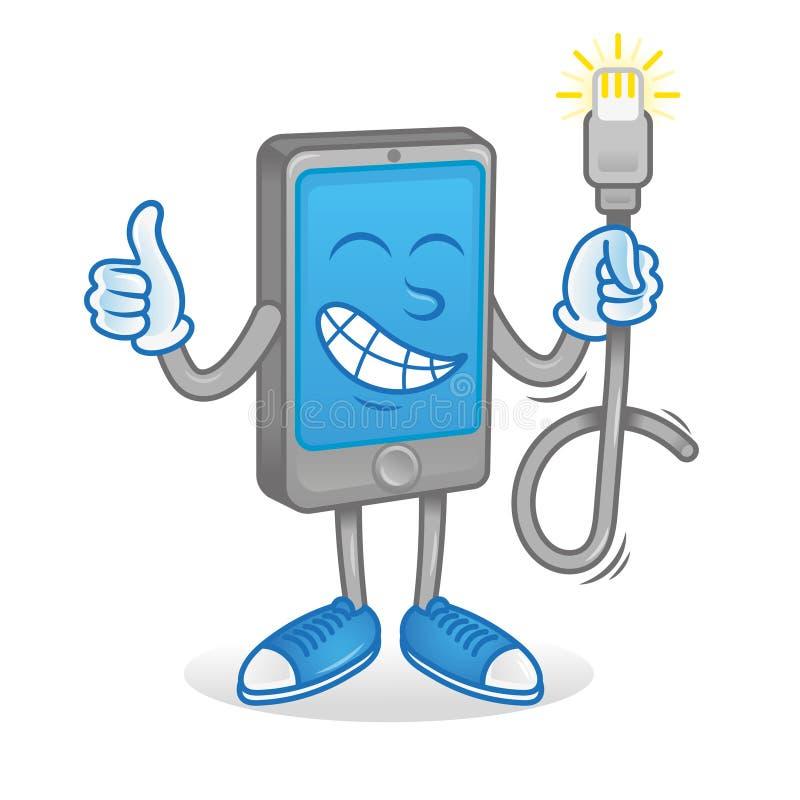 Τηλέφωνο με το καλό σκοινί usb διανυσματική απεικόνιση