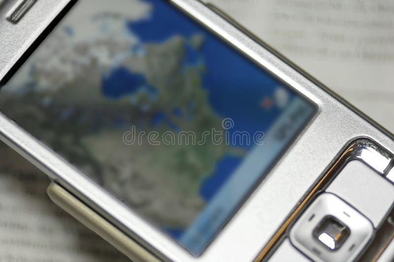τηλέφωνο πλοηγών κυττάρων στοκ εικόνες με δικαίωμα ελεύθερης χρήσης