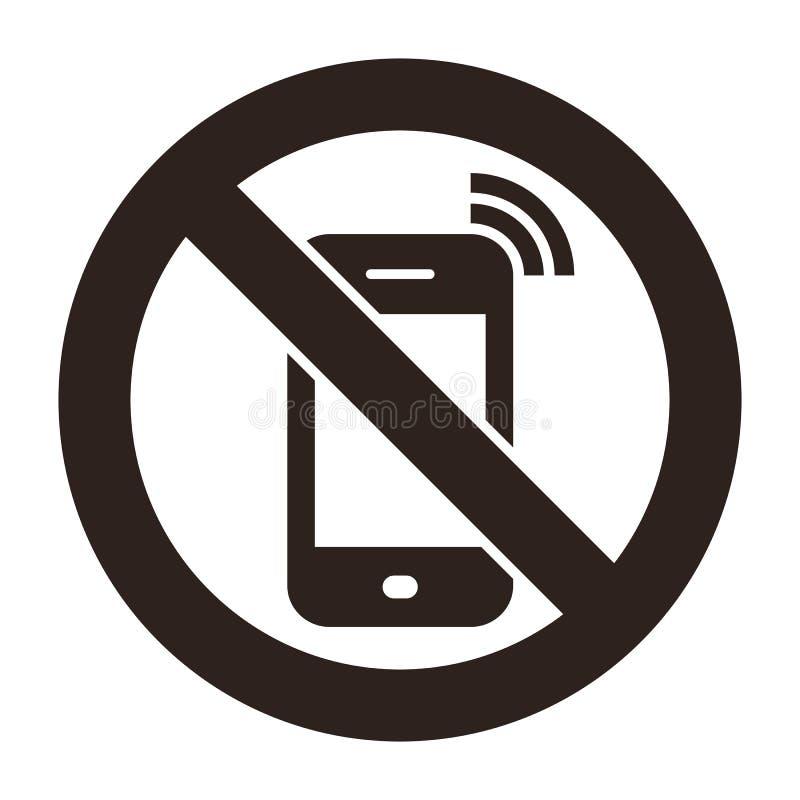 Τηλέφωνο που απαγορεύεται κινητό απεικόνιση αποθεμάτων