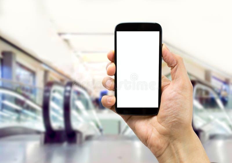 Τηλέφωνο σε ένα εμπορικό κέντρο στοκ φωτογραφία με δικαίωμα ελεύθερης χρήσης