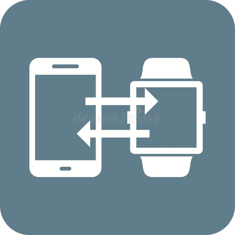 Τηλέφωνο στο συγχρονισμό ρολογιών ελεύθερη απεικόνιση δικαιώματος