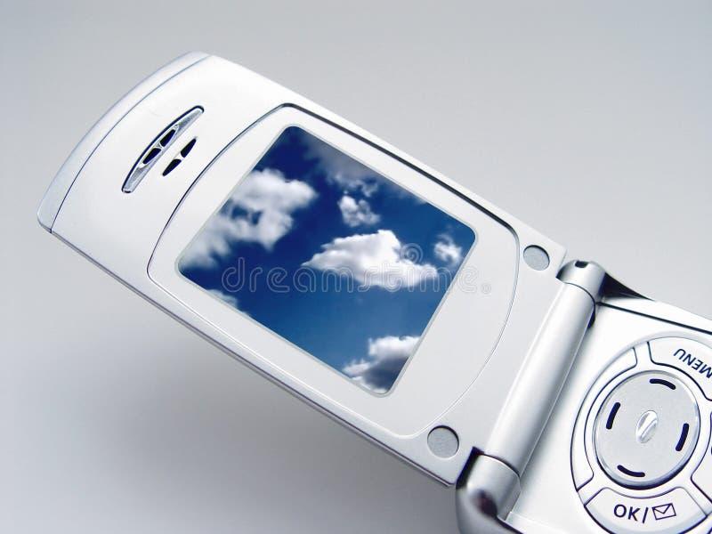 τηλέφωνο φωτογραφικών μηχ&a στοκ φωτογραφία