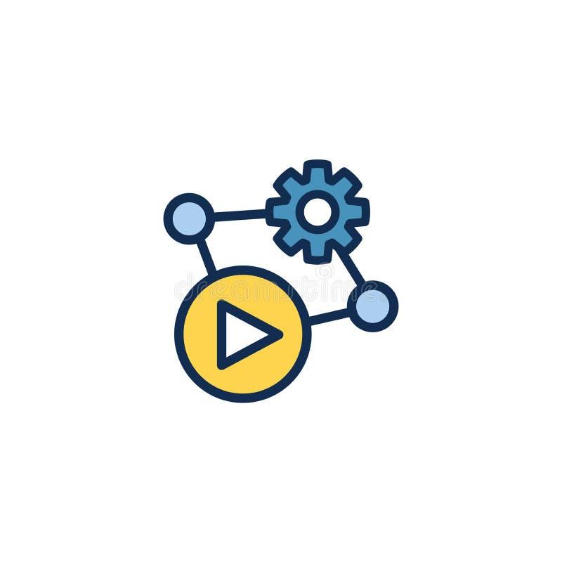Τηλεοπτικές διδασκαλία και κατάρτιση - ενημερωτικό τηλεοπτικό εικονίδιο/τηλεοπτικό κουμπί ελεύθερη απεικόνιση δικαιώματος