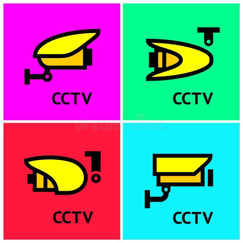 Τηλεοπτικές κάμερες Ιστού επιτήρησης CCTV ωρ. καθορισμένες απεικόνιση αποθεμάτων