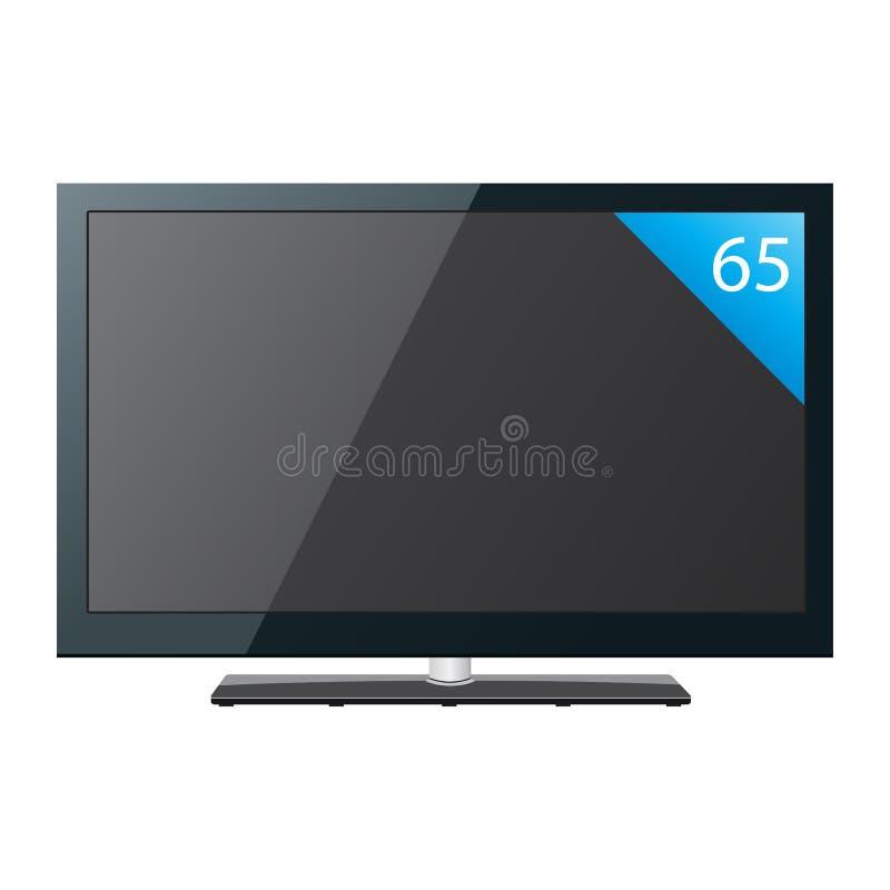 τηλεοπτική επίπεδη οθόνη 65 ίντσας απεικόνιση αποθεμάτων