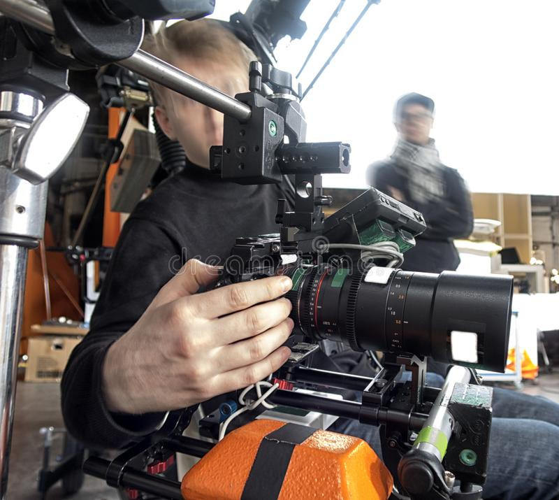 Τηλεοπτική κάμερα στο στούντιο στοκ εικόνα με δικαίωμα ελεύθερης χρήσης