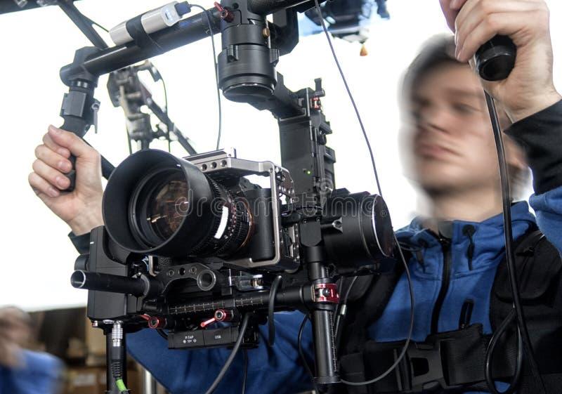 Τηλεοπτική κάμερα στο στούντιο στοκ φωτογραφία με δικαίωμα ελεύθερης χρήσης