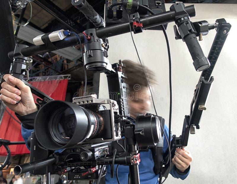 Τηλεοπτική κάμερα στο στούντιο στοκ φωτογραφία