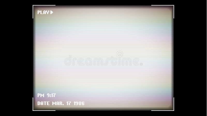 Τηλεοπτική καταγραφή στην οθόνη Φλόγα και έντονο φως φακών Σκόπευτρο καμερών Υπόβαθρο ουράνιων τόξων για τον Ιστό επιχειρησιακής  απεικόνιση αποθεμάτων