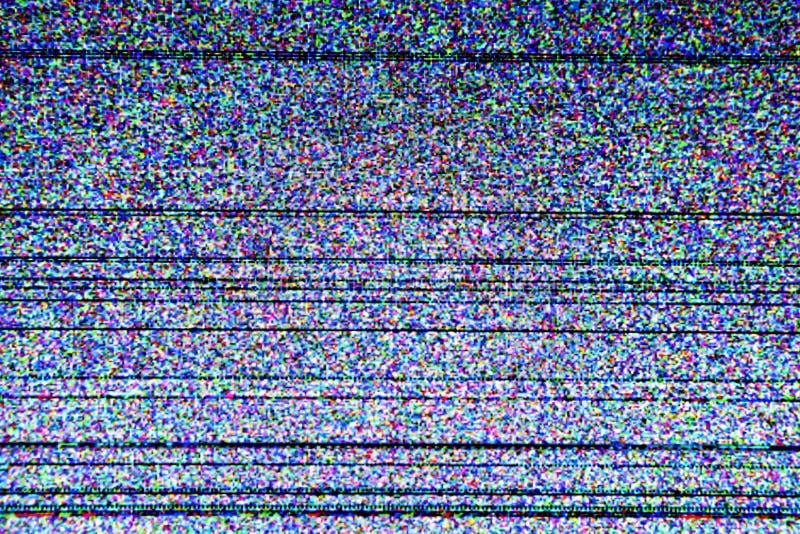 Τηλεοπτική οθόνη με το στατικό θόρυβο στοκ φωτογραφία