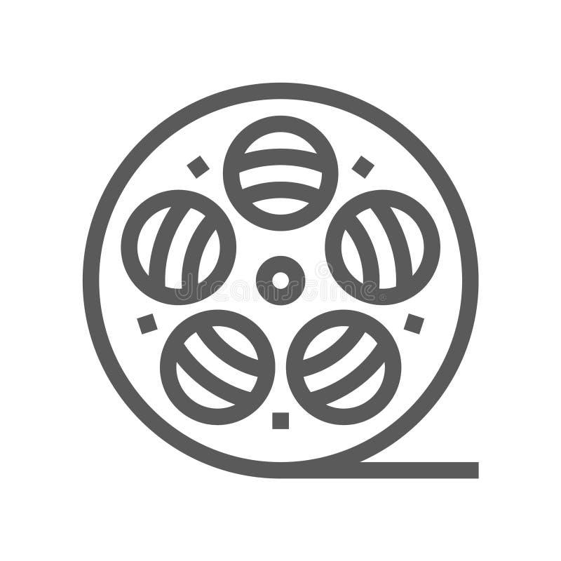 Τηλεοπτική παραγωγή στούντιο, τηλεοπτικό ικανοποιημένο διανυσματικό εικονίδιο γραμμών Παραγωγή κινηματογράφων, ταινία Montage, Sc απεικόνιση αποθεμάτων