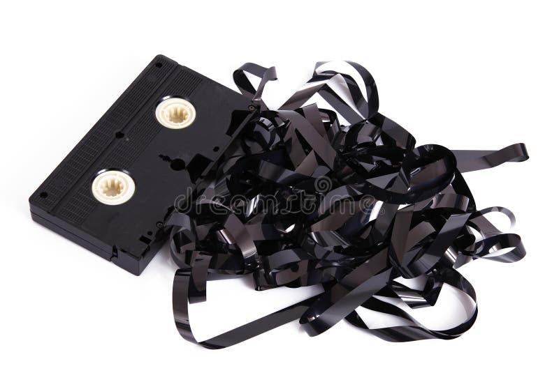 Τηλεοπτική ταινία κασετών στο άσπρο υπόβαθρο στοκ εικόνες