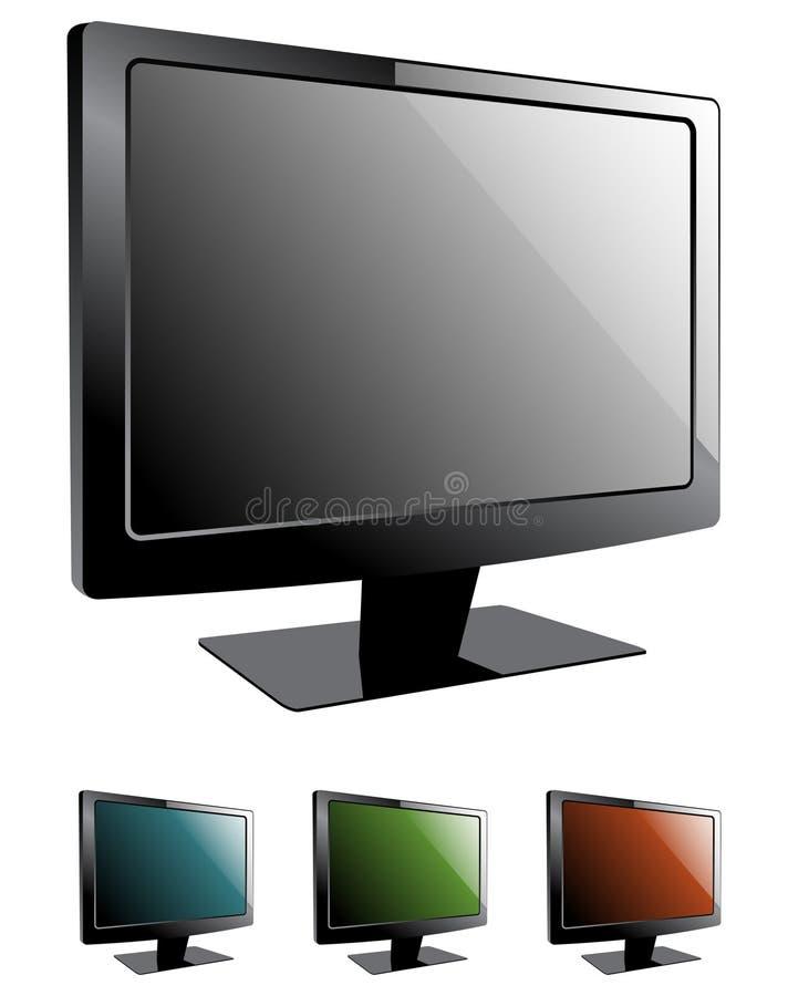 τηλεοπτική TV LCD ελεύθερη απεικόνιση δικαιώματος