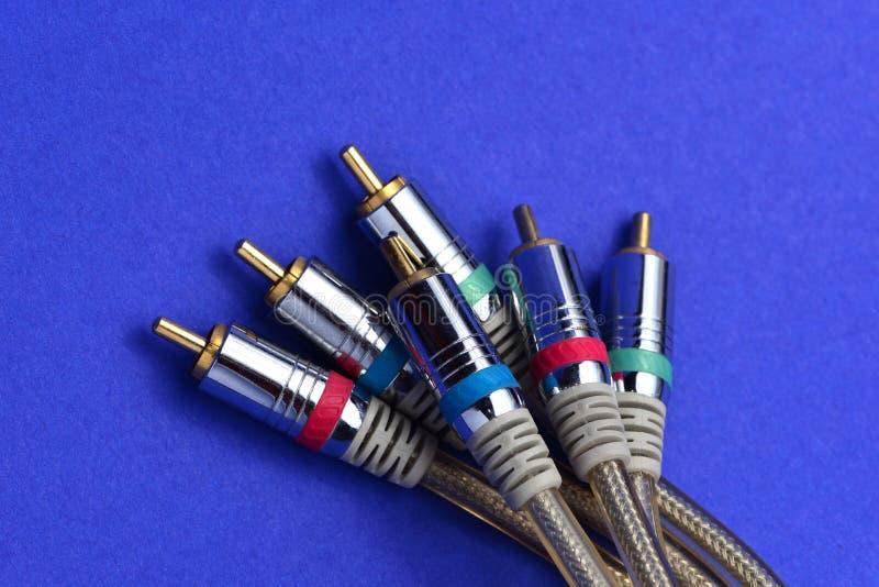 Τηλεοπτικοί ακουστικοί συνδετήρες στοκ φωτογραφίες