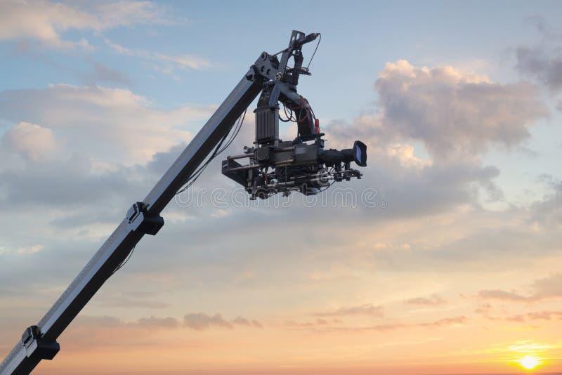 τηλεοπτικός γερανός στοκ φωτογραφία με δικαίωμα ελεύθερης χρήσης