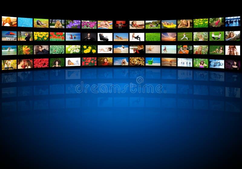 τηλεοπτικός τοίχος στοκ εικόνα με δικαίωμα ελεύθερης χρήσης