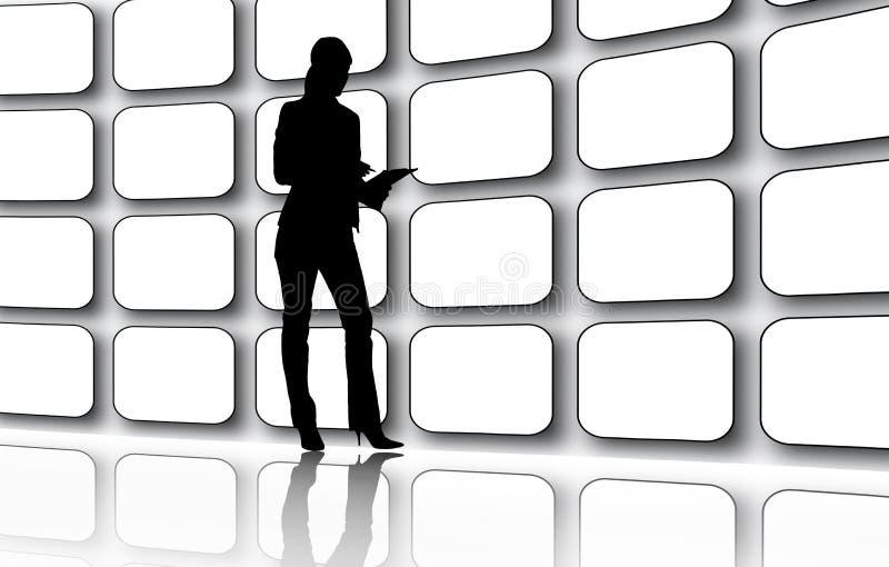 τηλεοπτικός τοίχος ελεύθερη απεικόνιση δικαιώματος