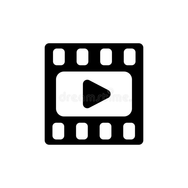 Τηλεοπτικό εικονίδιο Πλαίσιο κινηματογράφων Ταινία ή εικονίδιο MEDIA επίπεδη Κουμπί παιχνιδιού διανυσματική απεικόνιση