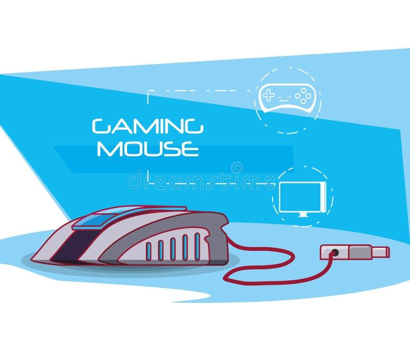 Τηλεοπτικό εικονίδιο ποντικιών παιχνιδιού ελεύθερη απεικόνιση δικαιώματος