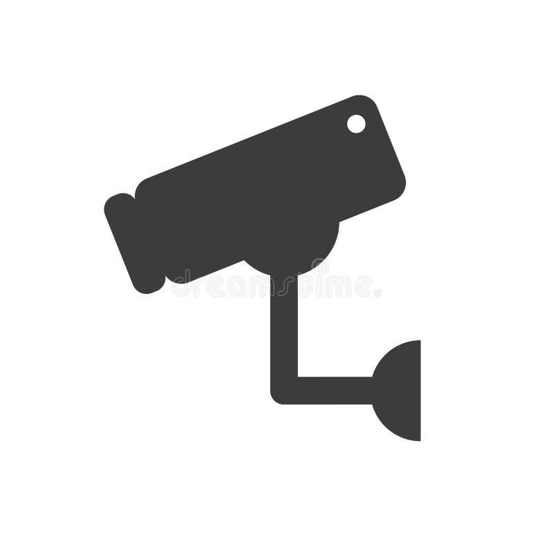 Τηλεοπτικό σημάδι επιτήρησης Κάμερα CCTV απεικόνιση αποθεμάτων