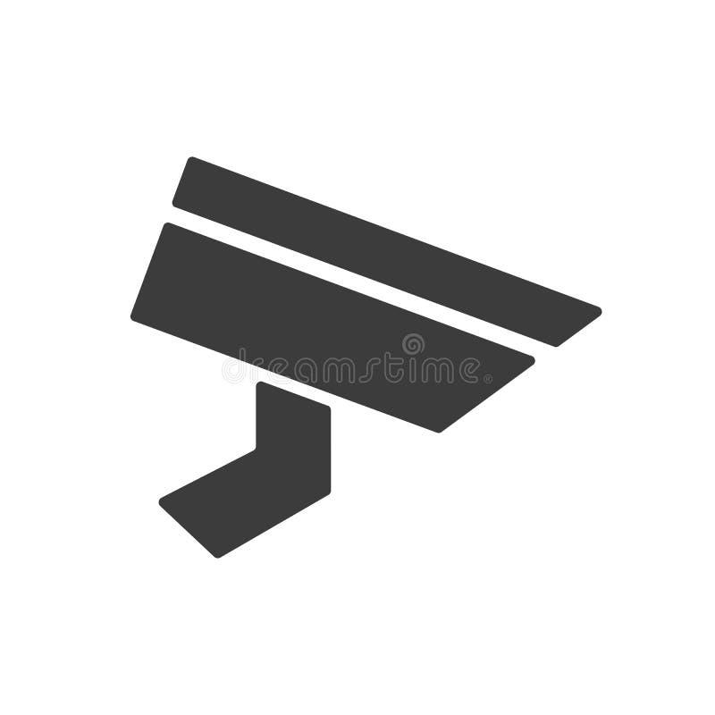 Τηλεοπτικό σημάδι επιτήρησης Κάμερα CCTV ελεύθερη απεικόνιση δικαιώματος