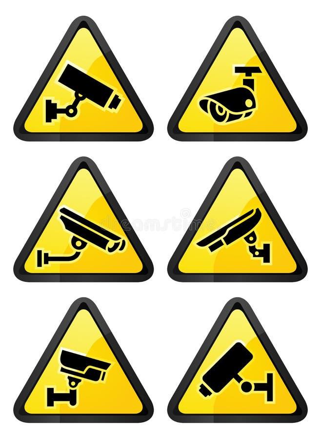 Τηλεοπτικό σύμβολο επιτήρησης, τριγωνική μορφή ελεύθερη απεικόνιση δικαιώματος