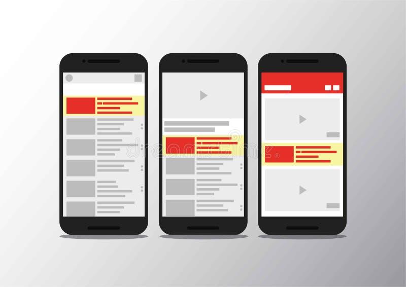 Τηλεοπτικό app καναλιών κινητό τηλέφωνο διεπαφών στοκ φωτογραφίες