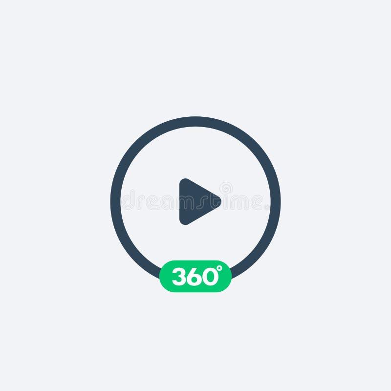 360 τηλεοπτικών βαθμοί εικονιδίων παιχνιδιού απεικόνιση αποθεμάτων