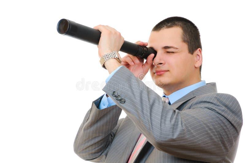 τηλεσκόπιο επιχειρηματ&io στοκ φωτογραφία