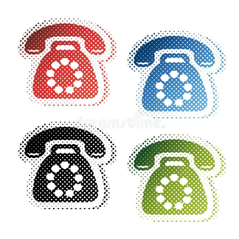 τηλεφωνικά σύμβολα απεικόνιση αποθεμάτων