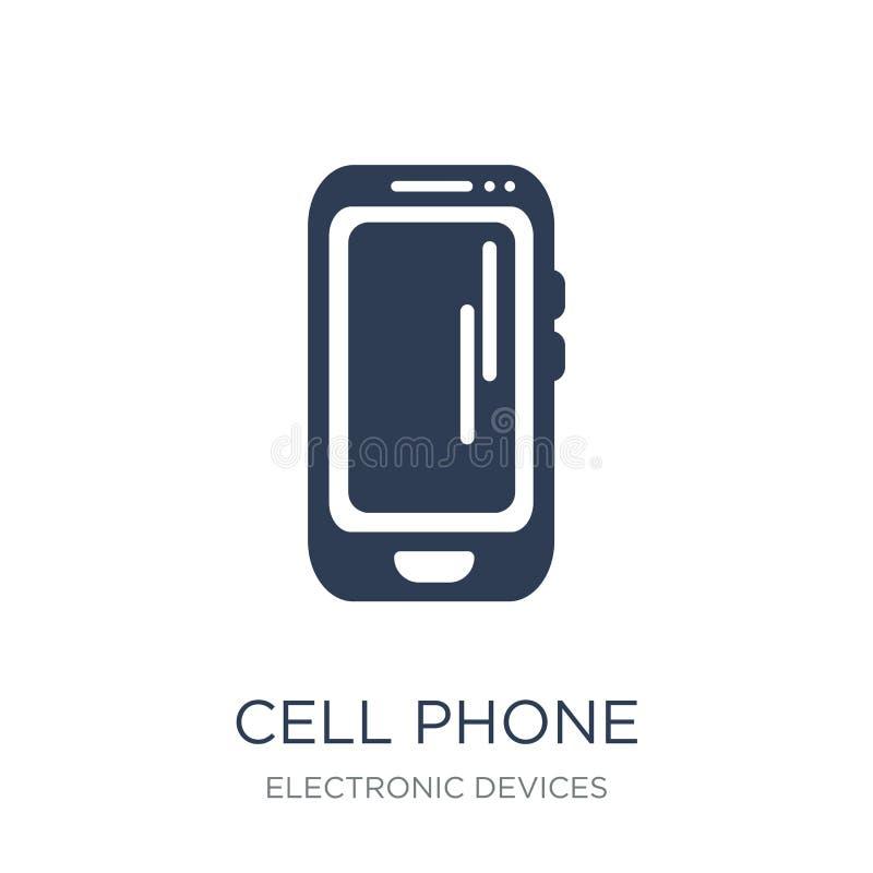 τηλεφωνική κόκκινη σειρά εικονιδίων κυττάρων  απεικόνιση αποθεμάτων