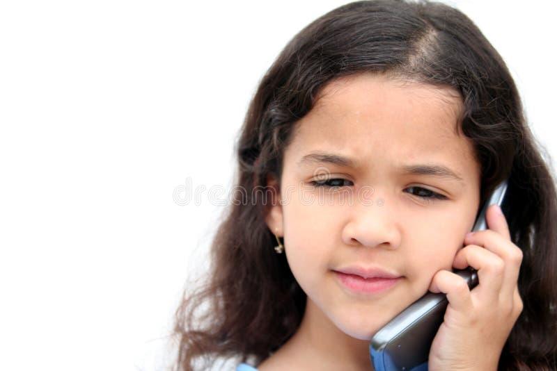 τηλεφωνική ομιλία κοριτ&sig στοκ φωτογραφία
